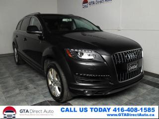 Used 2013 Audi Q7 TDI Premium Quattro Nav Pano 7-Pass Cam Certified for sale in Toronto, ON