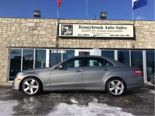 Used 2010 Mercedes-Benz E-Class AWD, Heated Leather, Bluetooth, 1 Year Warranty! for sale in Calgary, AB