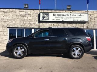 Used 2012 GMC Acadia SLT1 leather sunroof car starter 7 Passenger for sale in Calgary, AB