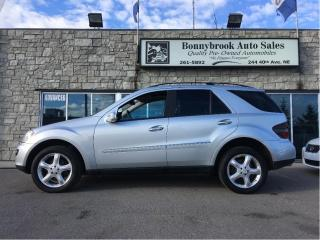 Used 2006 Mercedes-Benz ML-Class ML 350 4x4 w/navigation leather sunroof for sale in Calgary, AB