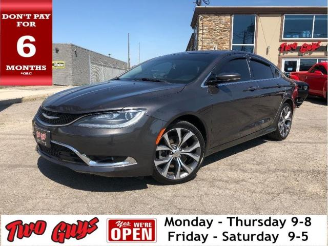 2016 Chrysler 200 C | Nav | Panoroof | Htd Leather | B/Up Cam