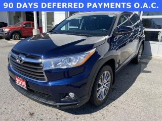 Used 2016 Toyota Highlander AWD 4DR XLE for sale in North Bay, ON