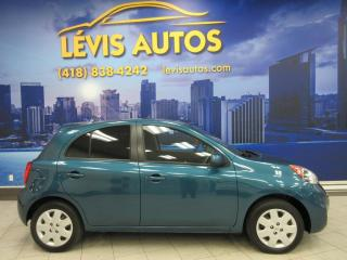 Used 2015 Nissan Micra SV TOUT EQUIPE 72900KM AIR CLIMATISE BLU for sale in Lévis, QC