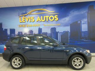 Used 2006 BMW X3 2.5i AWD MANUEL TOUT EQUIPE CUIR TOIT PA for sale in Lévis, QC