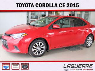 Used 2015 Toyota Corolla CE for sale in Victoriaville, QC
