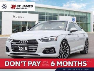 Used 2018 Audi A5 Sportback Technik Clean CarFax, One Owner, 360 Back-Up Camera for sale in Winnipeg, MB