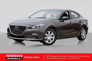 Used 2015 Mazda MAZDA3 GX TRES BAS KM / SKY ACTIVE / JAMAIS ACCIDENTÉ for sale in Montréal, QC