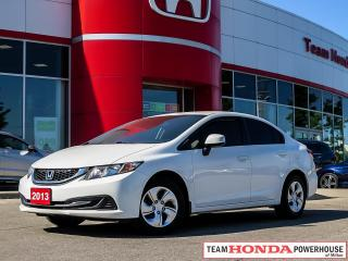 Used 2013 Honda Civic LX for sale in Milton, ON