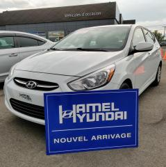 Used 2017 Hyundai Accent GL 5 PORTES **JAMAIS ACCIDENTÉ** for sale in St-Eustache, QC