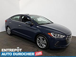 Used 2017 Hyundai Elantra Limited NAVIGATION - Toit Ouvrant - A/C - Cuir for sale in Laval, QC