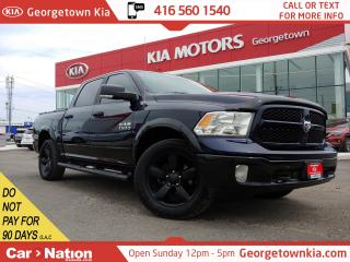 Used 2017 RAM 1500 OUTDOORSMAN   4X4   V6   BU CAM   BLACKED OUT for sale in Georgetown, ON