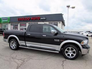 Used 2016 RAM 1500 Laramie Crew Cab LWB Navi Leather Certified for sale in Milton, ON