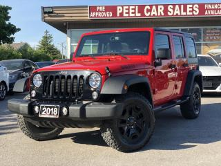 Used 2018 Jeep Wrangler Unlimited Sport 4WD | CERTIFIED| RUNNINGBOARDS|HEATED MIRRORS|BLUETOOTH|WILLY WHEELS| CLEANCARFAX| for sale in Mississauga, ON