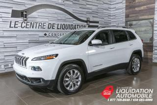Used 2014 Jeep Cherokee Limited+AWD+MAGS+CUIR+NAV+CAM/REC+TOIT+NAV for sale in Laval, QC