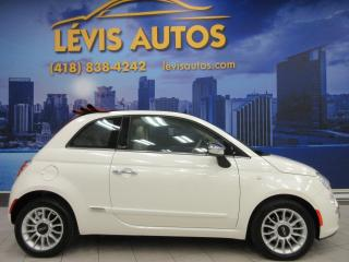 Used 2012 Fiat 500 C LOUNGE CUIR ROUGE 5 VITESSE ETAT NEUF ! for sale in Lévis, QC
