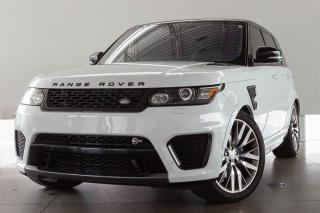 Used 2016 Land Rover Range Rover Sport V8 Supercharged SVR -LOCAL BC VEHICLE, CPO WARR UNTIL AUG 2021 OR 160,000 KMS, HEAD-UP DISPLAY, PARK ASSIST, ADAPTIVE CRUISE CONTROL for sale in Langley City, BC