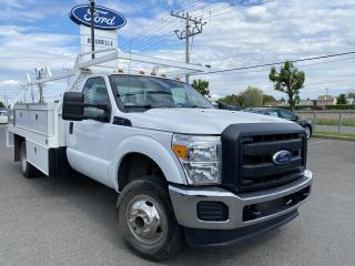 Used 2011 Ford F-350 4X4 Roue double Flat bed for sale in St-Eustache, QC