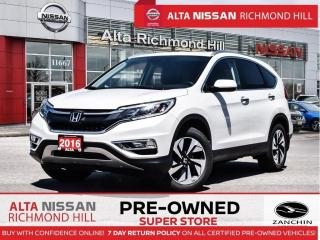 Used 2016 Honda CR-V Touring AWD   Leather   Lane DEP.   Heated Seats for sale in Richmond Hill, ON