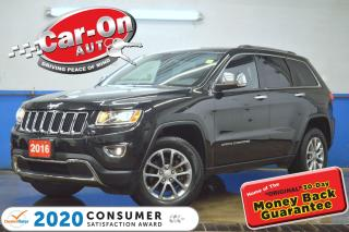 Used 2016 Jeep Grand Cherokee Limited 4X4 LEATHER REAR CAM HTD SEATS FULL PWR GR for sale in Ottawa, ON