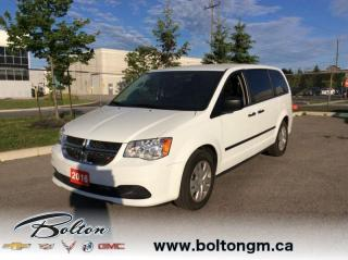 Used 2016 Dodge Grand Caravan SE/SXT -  Power Windows - $126 B/W for sale in Bolton, ON
