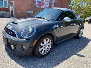 Used 2012 MINI Cooper Coupe S/1.6 TURBO/NO ACCIDENT/SAFETY+WARRANTY INCLUDED for sale in Cambridge, ON