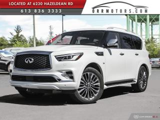 Used 2019 Infiniti QX80 LUXE 7 Passenger 7 PASSENGER | AWD | LOW KMS | NAV | DVD | PANO ROOF for sale in Stittsville, ON