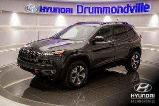 Used 2015 Jeep Cherokee TRAILHAWK 4X4 + GARANTIE + CUIR + MAGS + for sale in Drummondville, QC