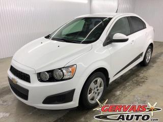 Used 2014 Chevrolet Sonic LS A/C BLUETOOTH *Bas Kilométrage* for sale in Trois-Rivières, QC