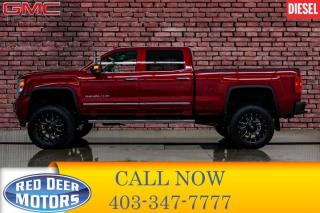 Used 2019 GMC Sierra 2500 HD 4x4 Crew Cab Denali Diesel Lift Leather Roof Nav for sale in Red Deer, AB