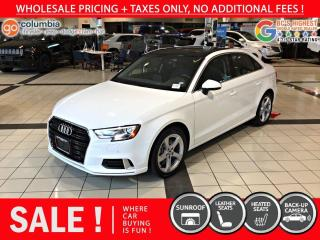 Used 2019 Audi A3 Sedan Komfort - Accident Free / Local for sale in Richmond, BC