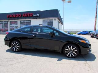 Used 2015 Honda Civic TOURING COUPE NAVIGATION CAMERA LEATHER CERTIFIED for sale in Milton, ON