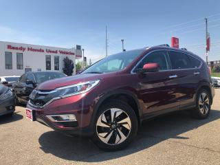 Used 2016 Honda CR-V Touring Navi - Leather - sunroof - Alloy for sale in Mississauga, ON