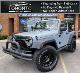 Used 2013 Jeep Wrangler Sport 4WD Front Impact Bar Upgraded Front Headlights/Grill Soft Top Convertible for sale in North York, ON