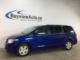 Used 2019 Dodge Grand Caravan Crew - HTD LTHR! 3 ZONE CLIMATE! DVD! NAV! PWR DOORS! + MORE! for sale in Belleville, ON