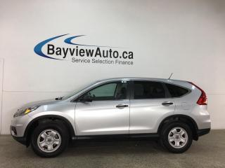 Used 2016 Honda CR-V LX - HTD SEATS! REVERSE CAM! PWR GROUP! ONLY 46,000KMS! for sale in Belleville, ON