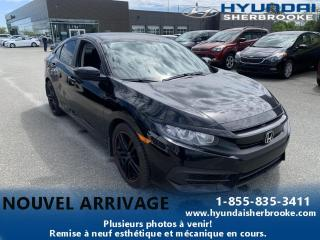Used 2017 Honda Civic LX+CAMERA+MAGS+ANDROID/APPLE+BANCS CHAUF for sale in Sherbrooke, QC