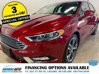 Used 2017 Ford Fusion Titanium HEATED LEATHER, ROOF, NAV, AND MUCH MORE.. for sale in Calgary, AB