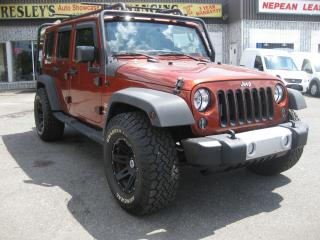 Used 2014 Jeep Wrangler Sahara Unlimited AWD 6cyl Auto AC Nav Htd Seat for sale in Ottawa, ON
