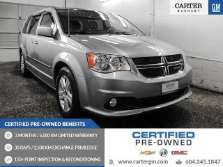 Used 2016 Dodge Grand Caravan Crew Heated Front Seats - Bluetooth - Rear View Camera for sale in Burnaby, BC