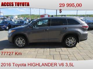 Used 2016 Toyota Highlander AWD XLE for sale in Rouyn-Noranda, QC
