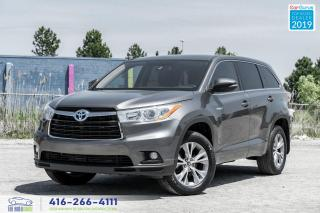 Used 2016 Toyota Highlander Hybrid LE|No Accidents|Bluetooth|Keyless Entry|Alloys for sale in Bolton, ON