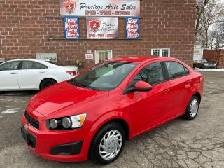 Used 2014 Chevrolet Sonic LS//5 SPEED/NO ACCIDENT/SAFETY+WARRANTY INCLUDED for sale in Cambridge, ON