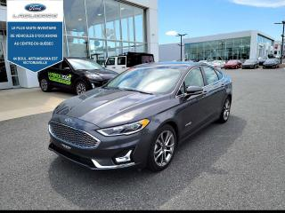 Used 2019 Ford Fusion Hybrid Titanium,CUIR,TOIT,NAV, for sale in Victoriaville, QC