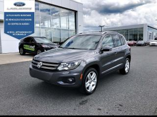 Used 2016 Volkswagen Tiguan Comfortline, CUIR,TOIT, 4motion for sale in Victoriaville, QC