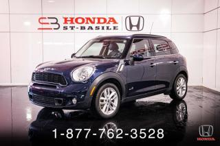 Used 2012 MINI Cooper Countryman S + ALL4 + PANO + CUIR + WOW! for sale in St-Basile-le-Grand, QC