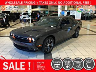 Used 2019 Dodge Challenger SXT Plus - Navigation / Sunroof / Leather for sale in Richmond, BC