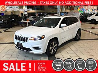 Used 2019 Jeep Cherokee Limited - Accident Free / Pano Sunroof / Nav for sale in Richmond, BC