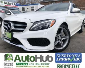 Used 2016 Mercedes-Benz C-Class C300-LEATHER-NAV-BACKUP CAMERA-PANORAMIC ROOF-BLUETOOTH for sale in Hamilton, ON