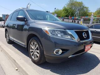 Used 2014 Nissan Pathfinder SL-7 SEATS-159K-LEATHER-BK UP CAM-BLUETOOTH-ALLOYS for sale in Scarborough, ON