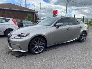 Used 2016 Lexus IS 350 IS350, F-SPORT 2, ACCIDENT FREE>NAVI>CAMERA 53 KM for sale in Ottawa, ON